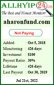 Monitored by allhyip24.com